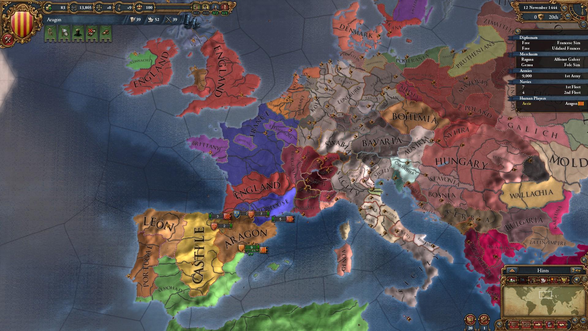 Скриншот Europa Universalis IV [v1.17.1.0 +47 DLC] (2013) PC