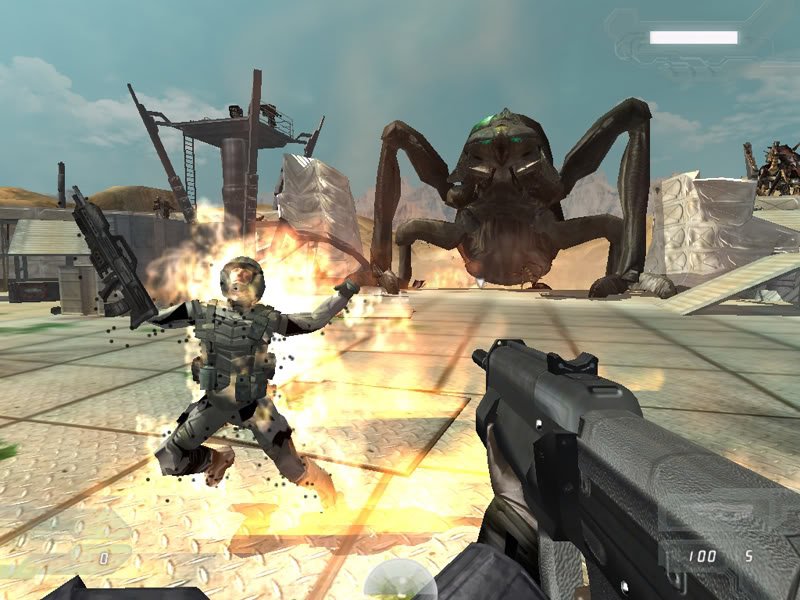 Скриншот Starship Troopers (2005) PC