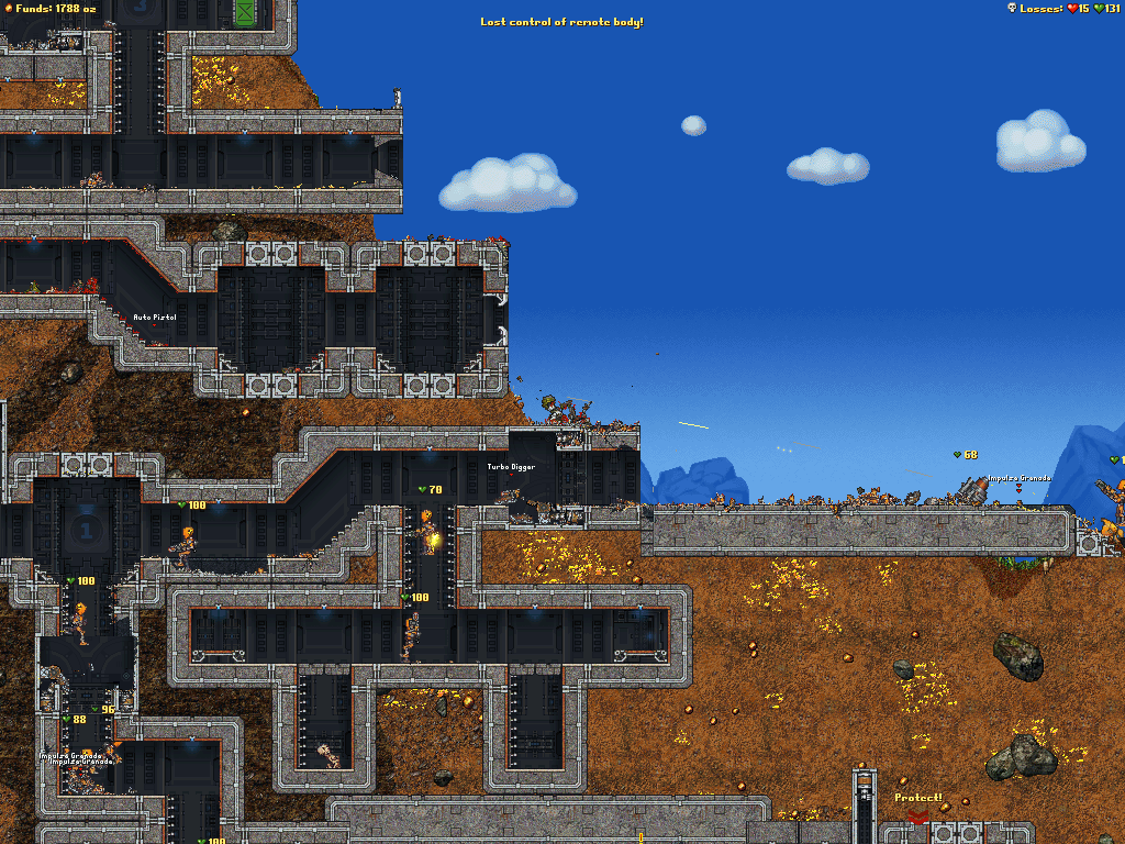 Скриншот Cortex Command (2011) PC