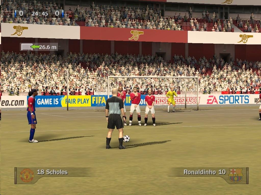 Скриншот FIFA 07 (2006) PC