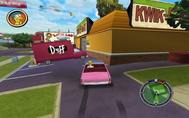 Скриншот The Simpsons: Hit & Run (2003) PC
