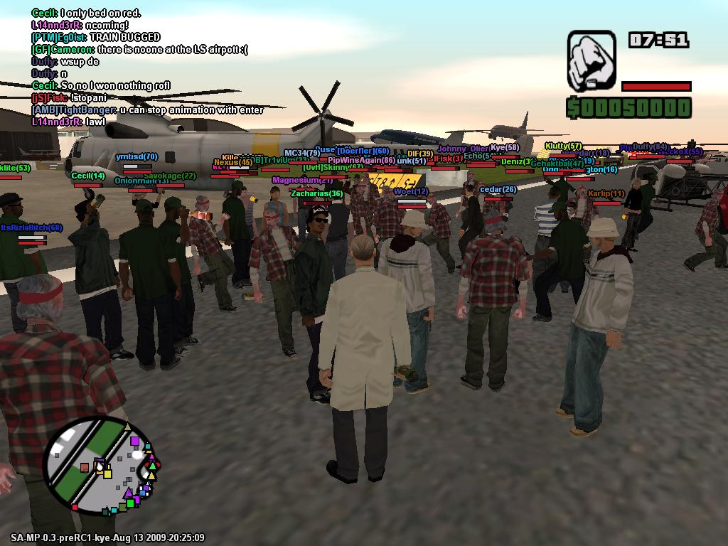Скриншот GTA San Andreas MultiPlayer (2011) PC