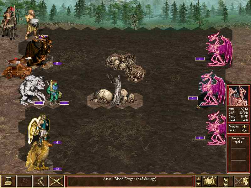 Скриншот Heroes of Might and Magic 3.58f In The Wake Of Gods (2004) PC