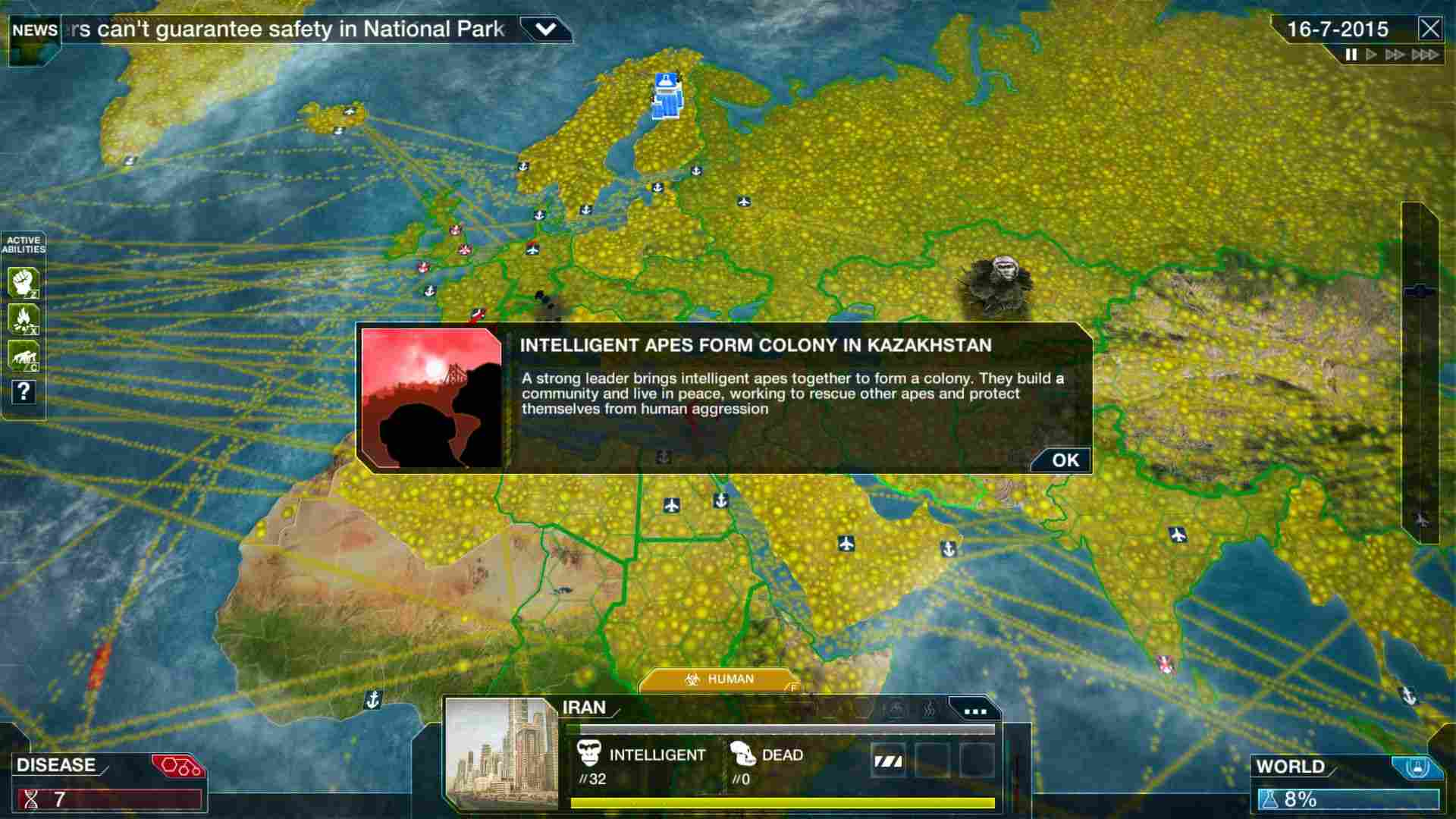 Скриншот Plague Inc: Evolved [v 1.13.0] (2016) PC | RePack от R.G. Механики