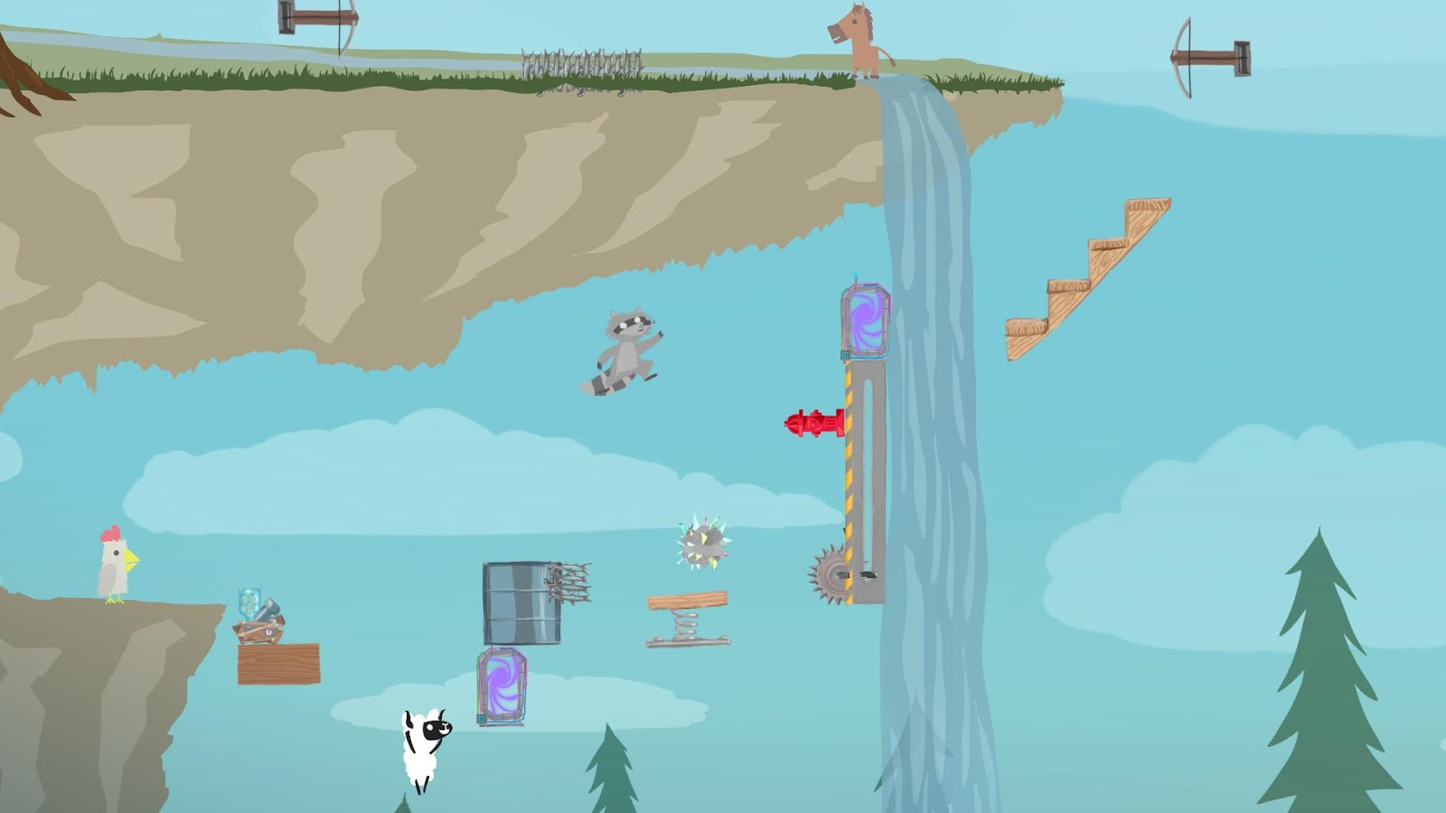 Скриншот Ultimate Chicken Horse (2016) PC