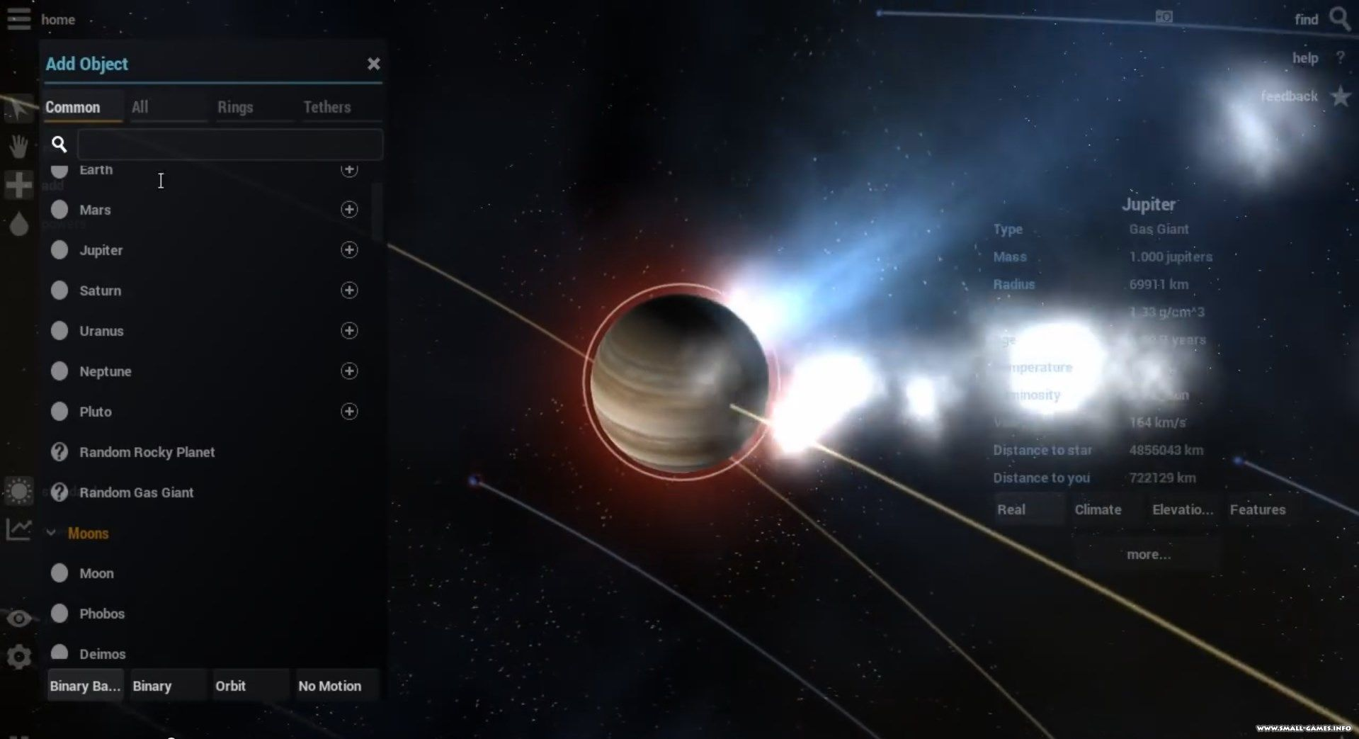 Скриншот Universe SandBox 0 (2015) PC