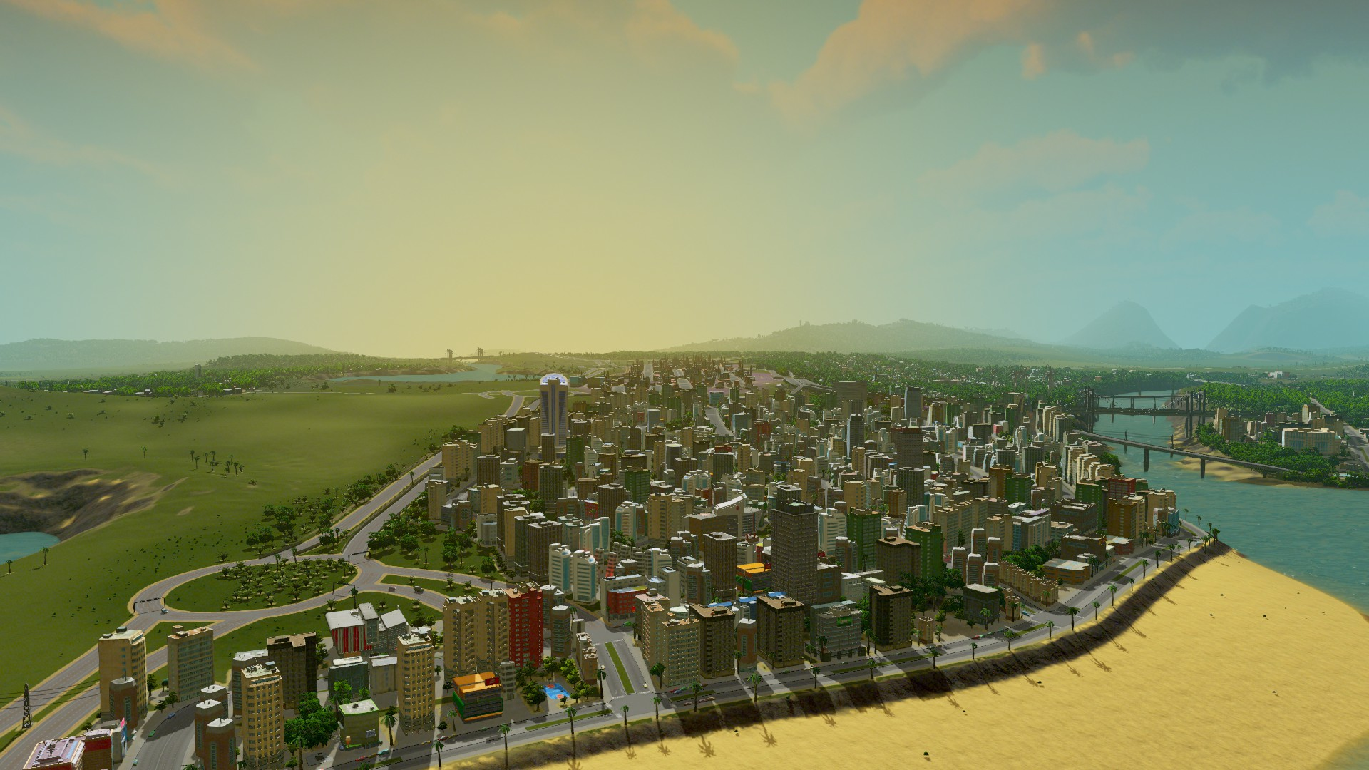 Скриншот Cities: Skylines - Deluxe Edition [v 1.6.0-f4 + DLC's] (2015) PC | RePack от R.G. Механики