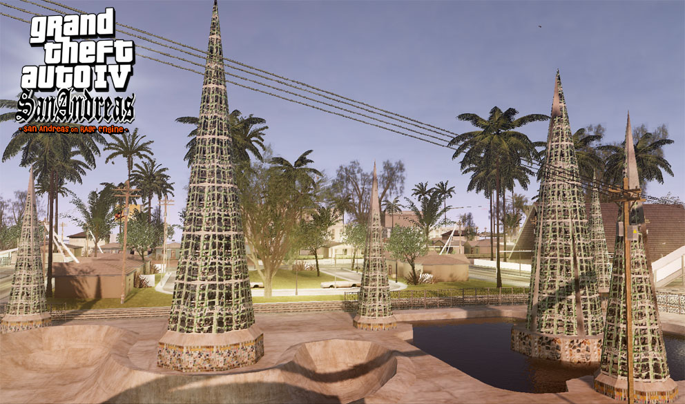 Скриншот GTA IV San Andreas BETA 3 World Enhancement Mod (2012) PC