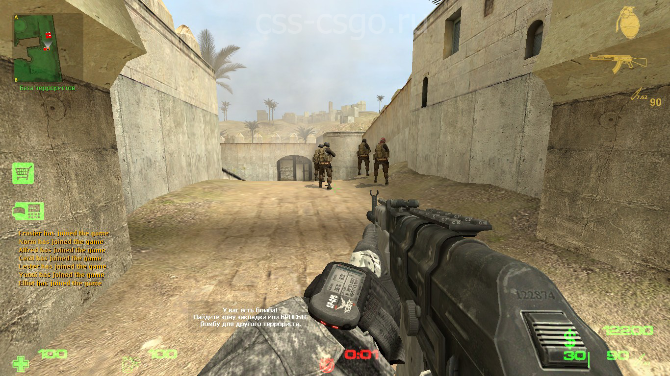 Скриншот Counter-Strike Source v.34 Modern Warfare 4 (2013) PC