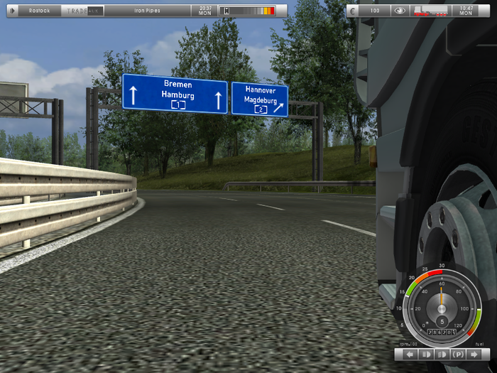 Скриншот German Truck Simulator (2010) PC