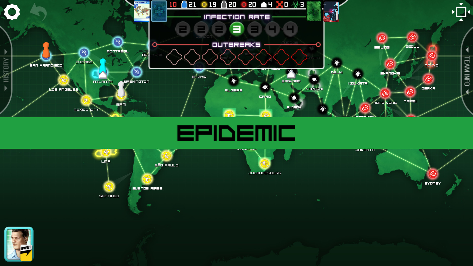Скриншот Pandemic: The Board Game (2018) PC