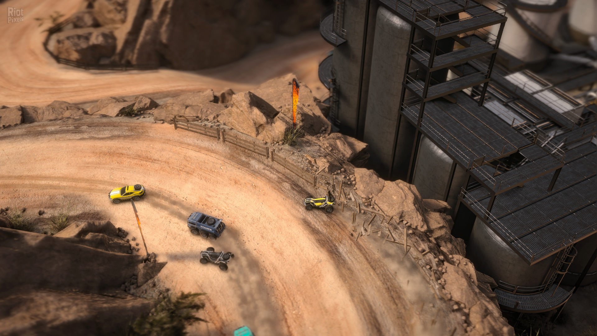 Скриншот Mantis Burn Racing - Battle Cars (2016) PC