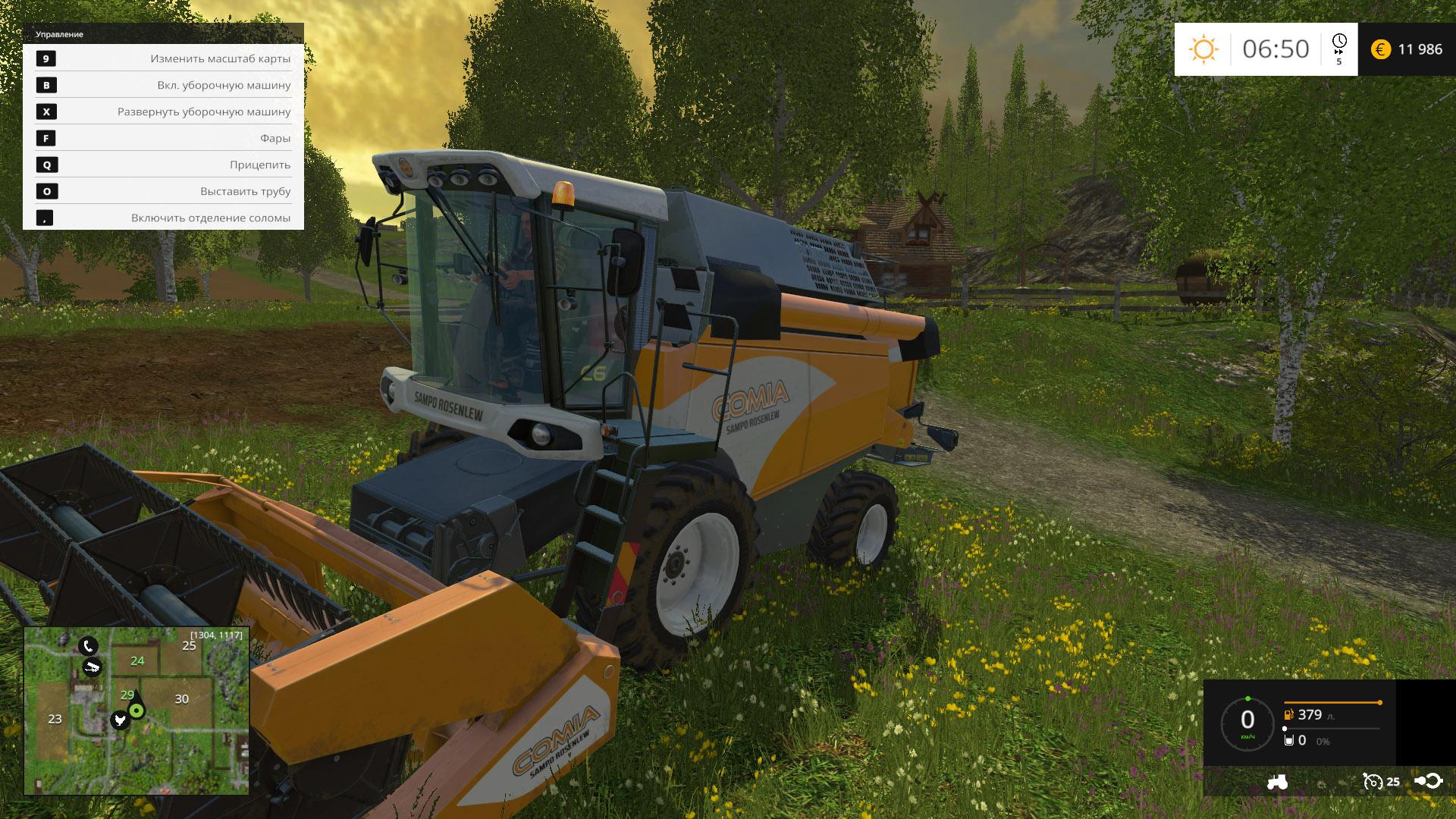 Скриншот Farming Simulator 15: Gold Edition [v 1.4.2 + DLC's] (2014) PC
