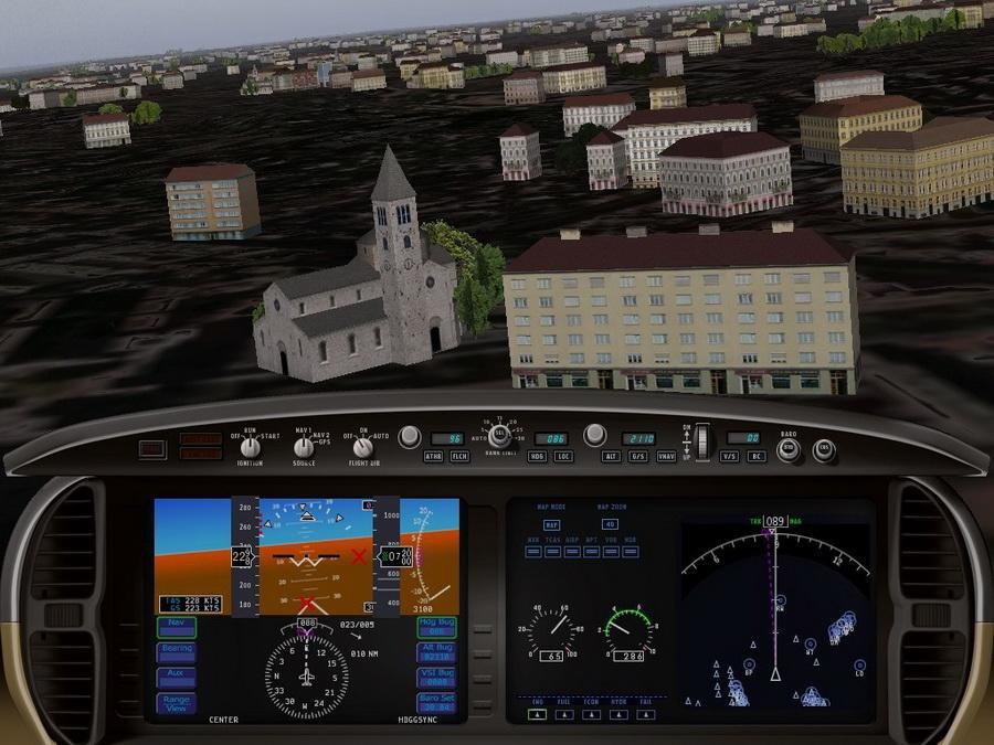 Скриншот X-Plane 9: Зов неба [v.9.69] (2009) PC