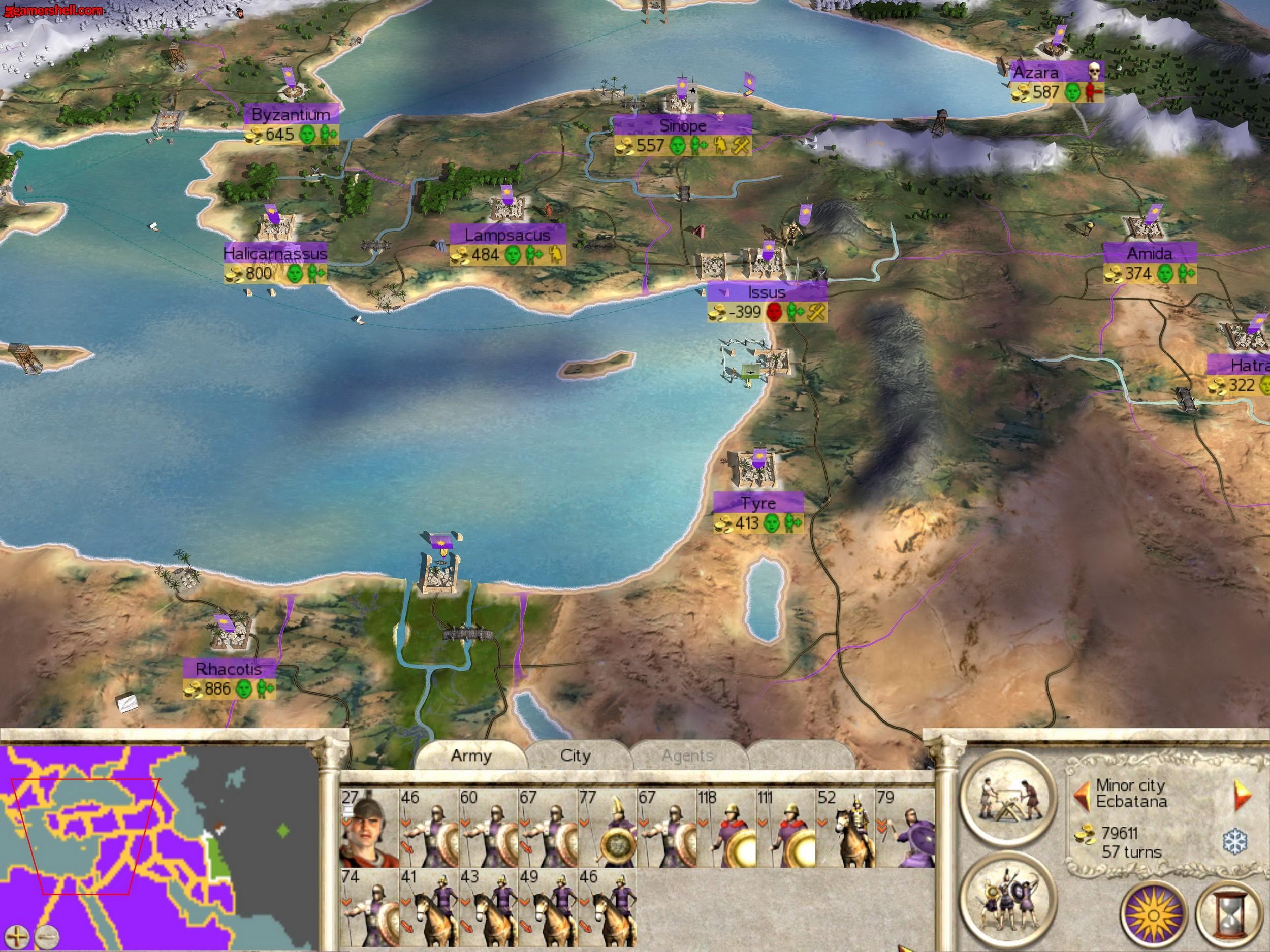 Скриншот Rome: Total War: Alexander (2006) РС