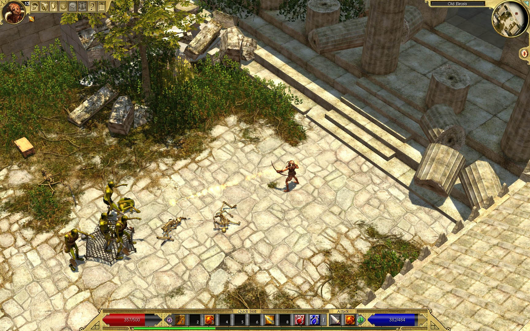 Скриншот Titan Quest: Immortal Throne (2007) PC