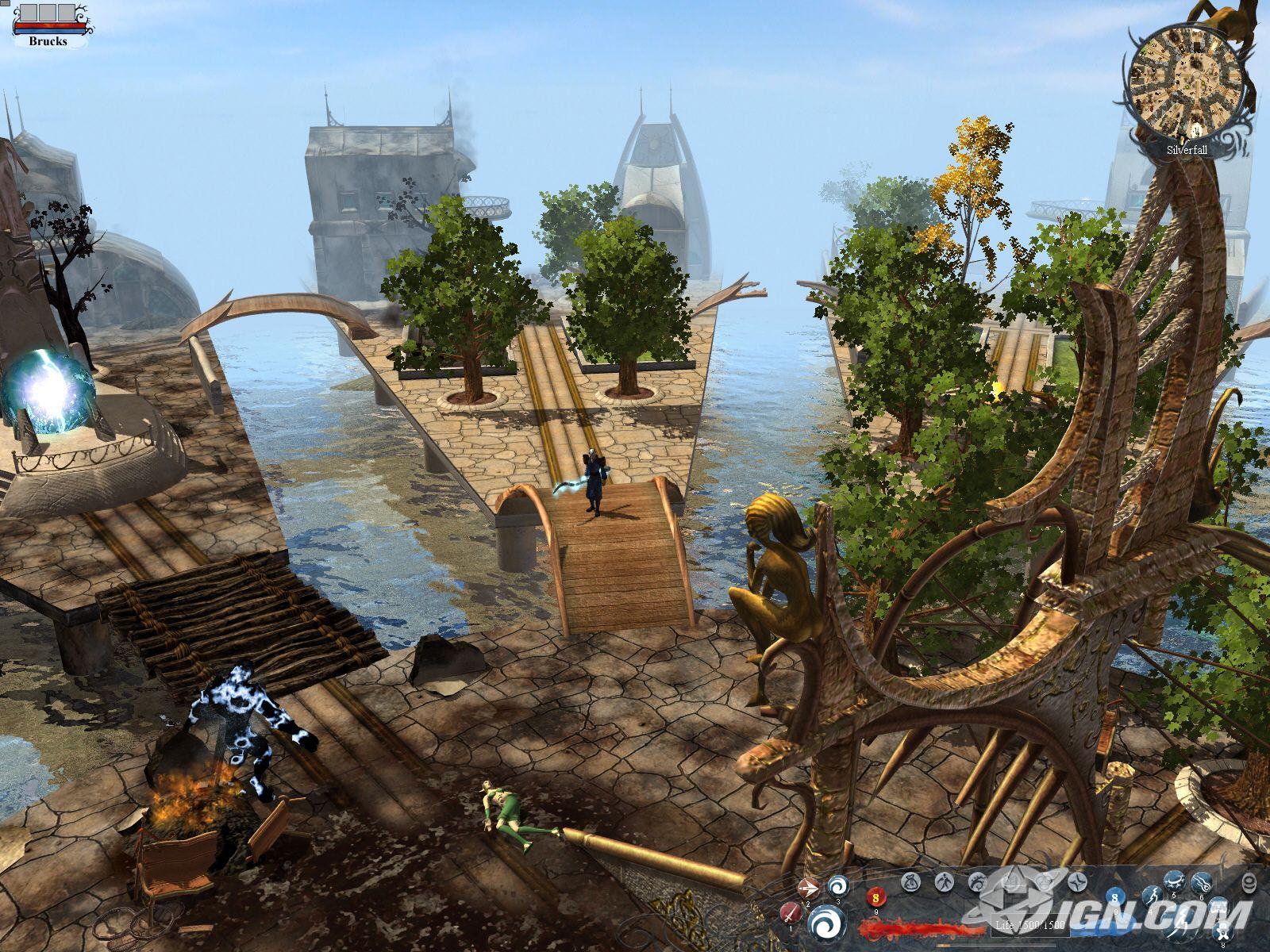 Скриншот Silverfall (2007) РС