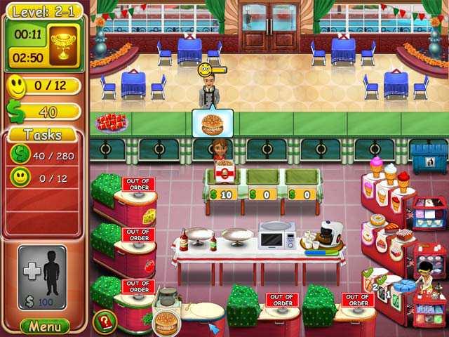 Скриншот Burger Bustle 2: Elite's Organics (2012) PC