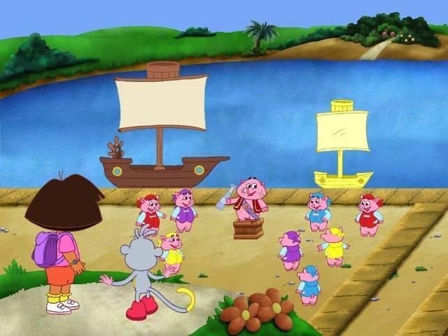 Скриншот Dora the Explorer: Fairytale Adventure (2004) PC