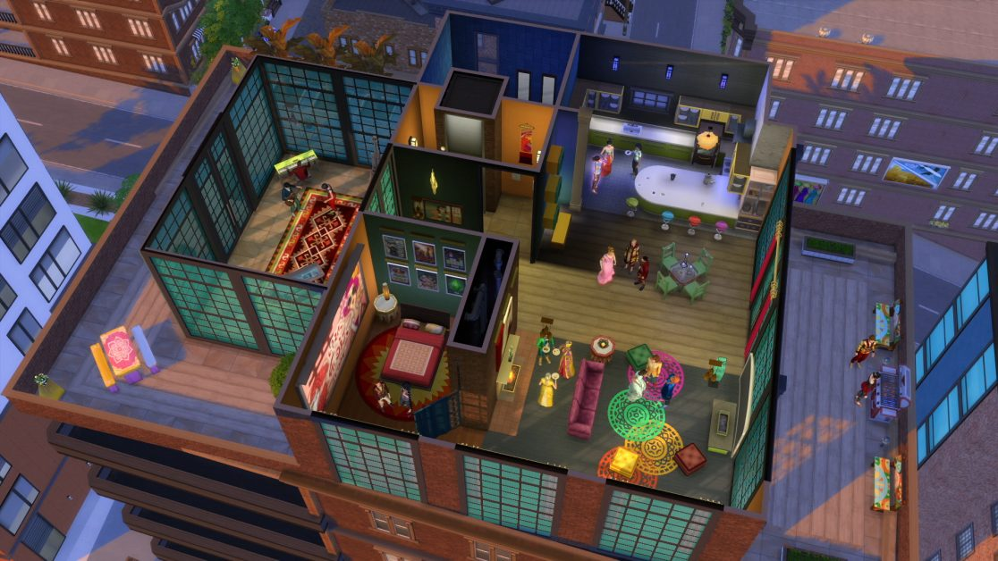 Скриншот The Sims 4 City Living (2016) РС