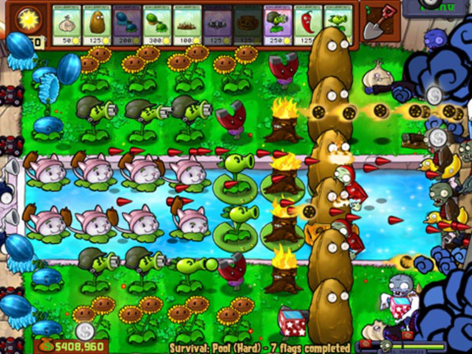 Скриншот Plants vs Zombies (2009) PC