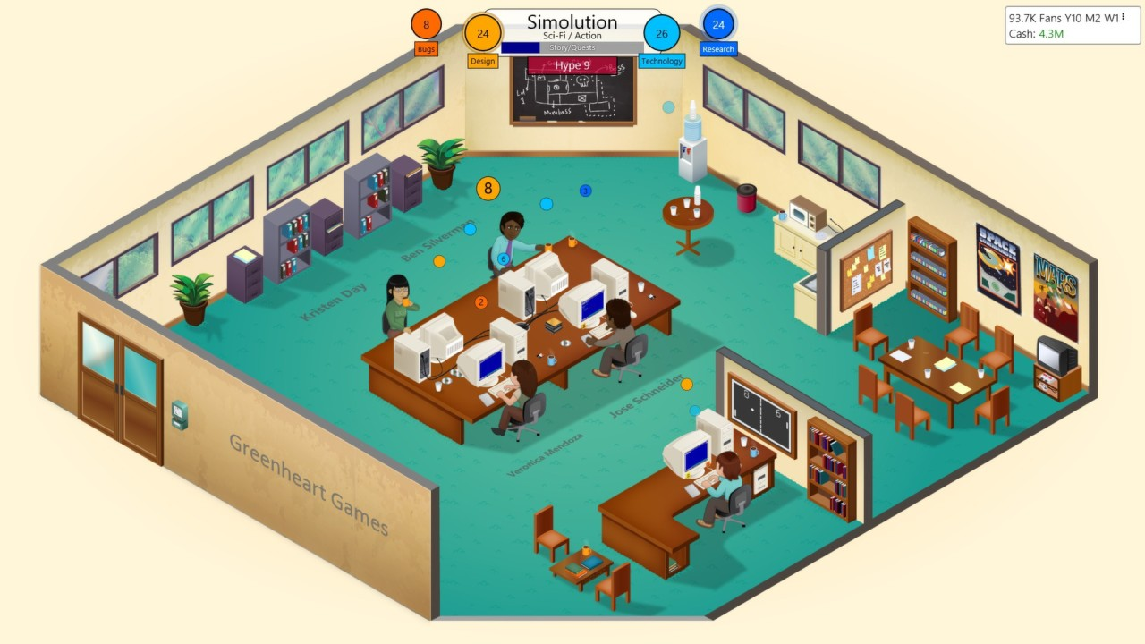 Скриншот Game Dev Tycoon [v 1.5.28] (2013) PC   RePack от R.G. Механики