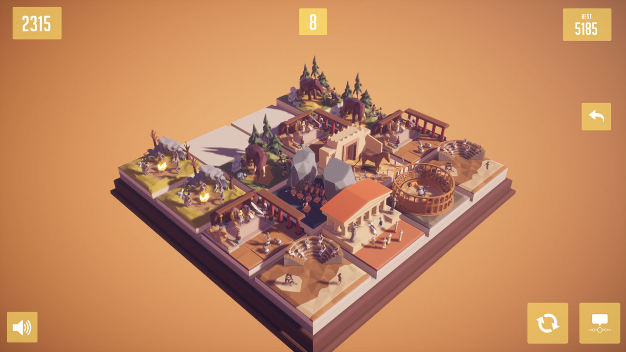 Скриншот History2048 - 3D puzzle number game (2017) PC